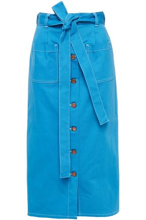 SEE BY CHLOÉ Belted denim midi skirt