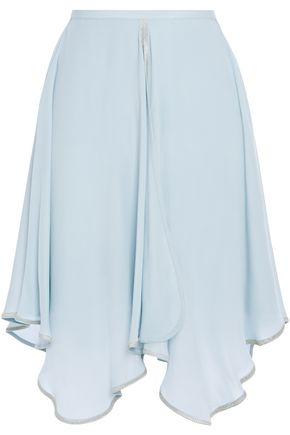 SEE BY CHLOÉ تنورة غير متماثلة من قماش كريب دي شين