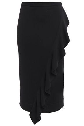 CARVEN Ruffled merino wool skirt