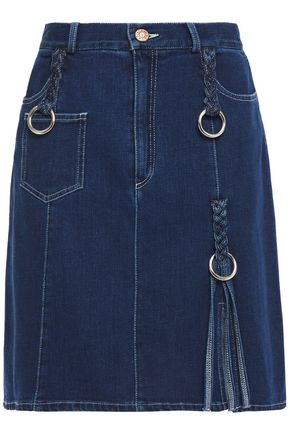 SEE BY CHLOÉ Ring-embellished denim mini skirt