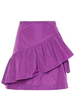 SEE BY CHLOÉ تنورة قصيرة من قماش مقاوم للماء مع كشكش