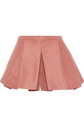 REDValentino Pleated satin-faille shorts