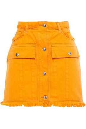 ACNE STUDIOS Giga frayed denim mini skirt
