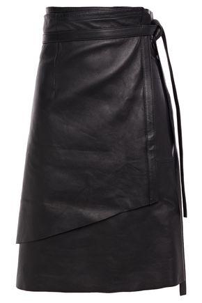 ACNE STUDIOS Leather wrap skirt
