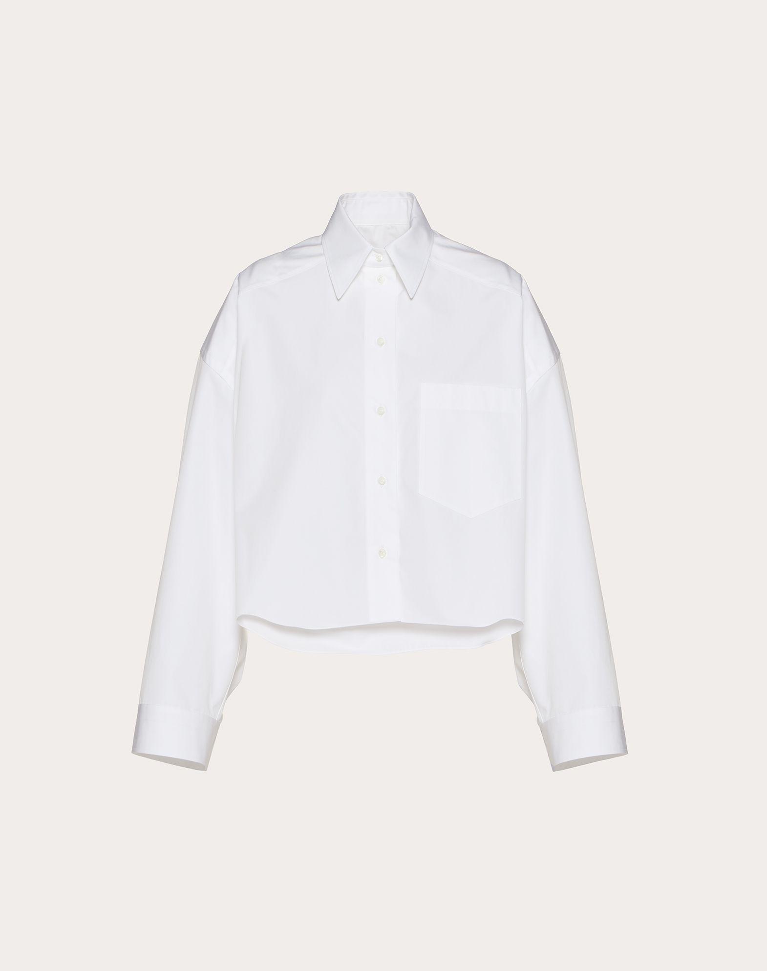 컴팩트 포플린 크롭 셔츠