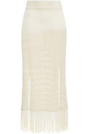 ALTUZARRA Crocheted cotton-blend midi skirt