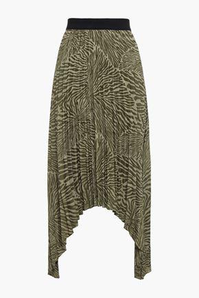 BY MALENE BIRGER Asymmetric pleated jacquard skirt