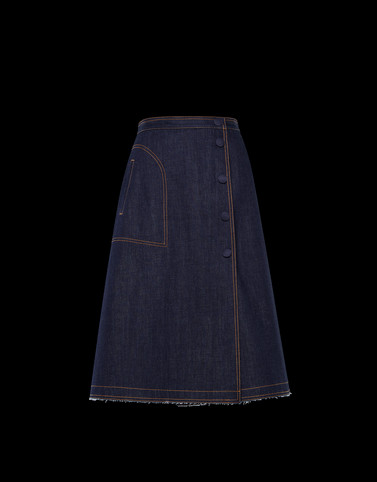 SKIRT Dark blue Category Denim skirts Woman
