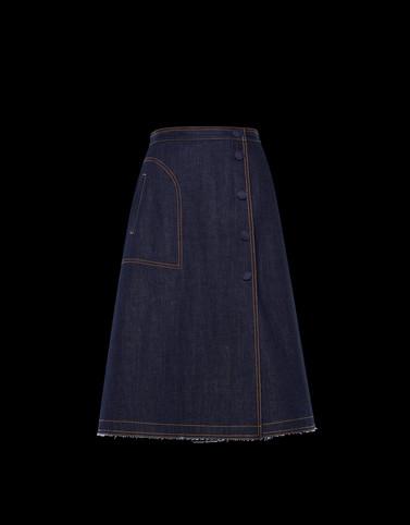 GONNA Colore Blu scuro Categoria Gonne jeans Donna