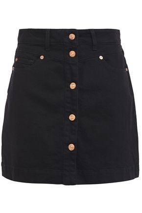 7 FOR ALL MANKIND Button-detailed denim mini skirt