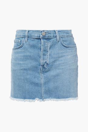 J BRAND Bonny frayed denim mini skirt