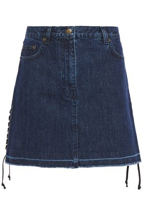 McQ Alexander McQueen Lace-up denim mini skirt