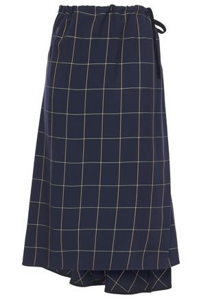 McQ Alexander McQueen Asymmetric printed twill midi skirt