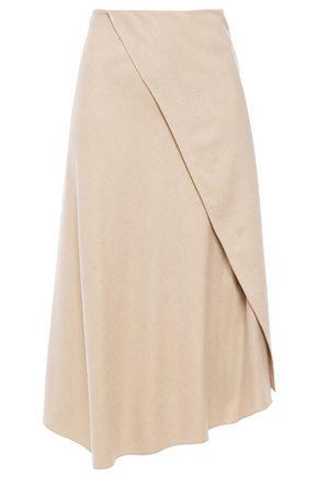 VINCE. Asymmetric twill midi skirt