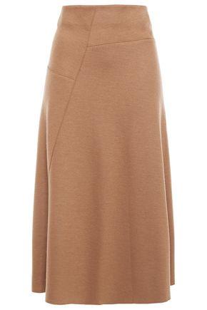 VINCE. Asymmetric wool-blend midi skirt