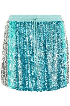 RETROFÊTE Nora sequined chiffon mini skirt