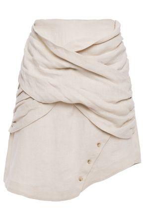 EACH X OTHER Draped linen mini skirt