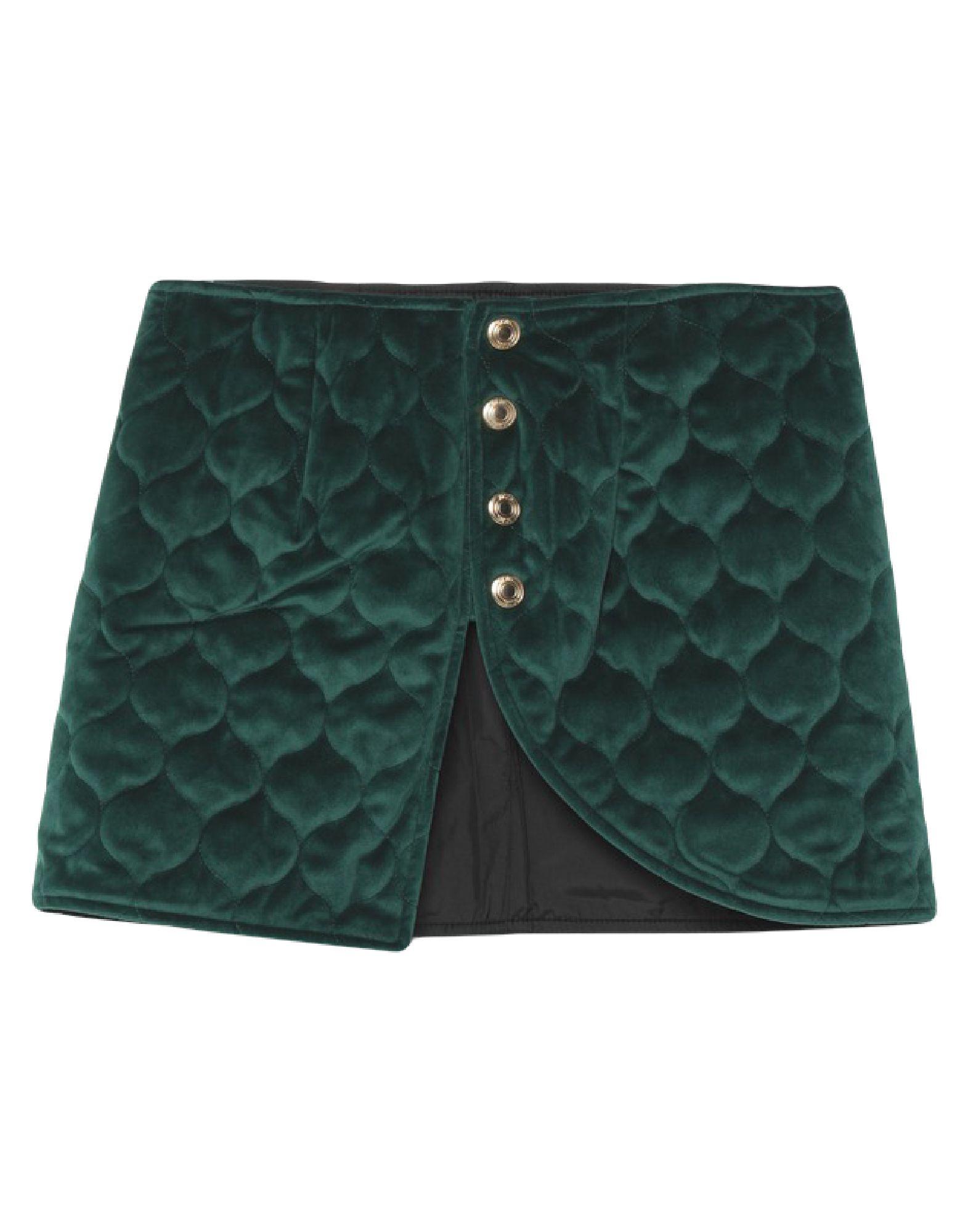 GCDS Mini skirts. velvet, no appliqués, basic solid color, no pockets, side closure, snap buttons fastening, fully lined, side slit. 100% Polyester