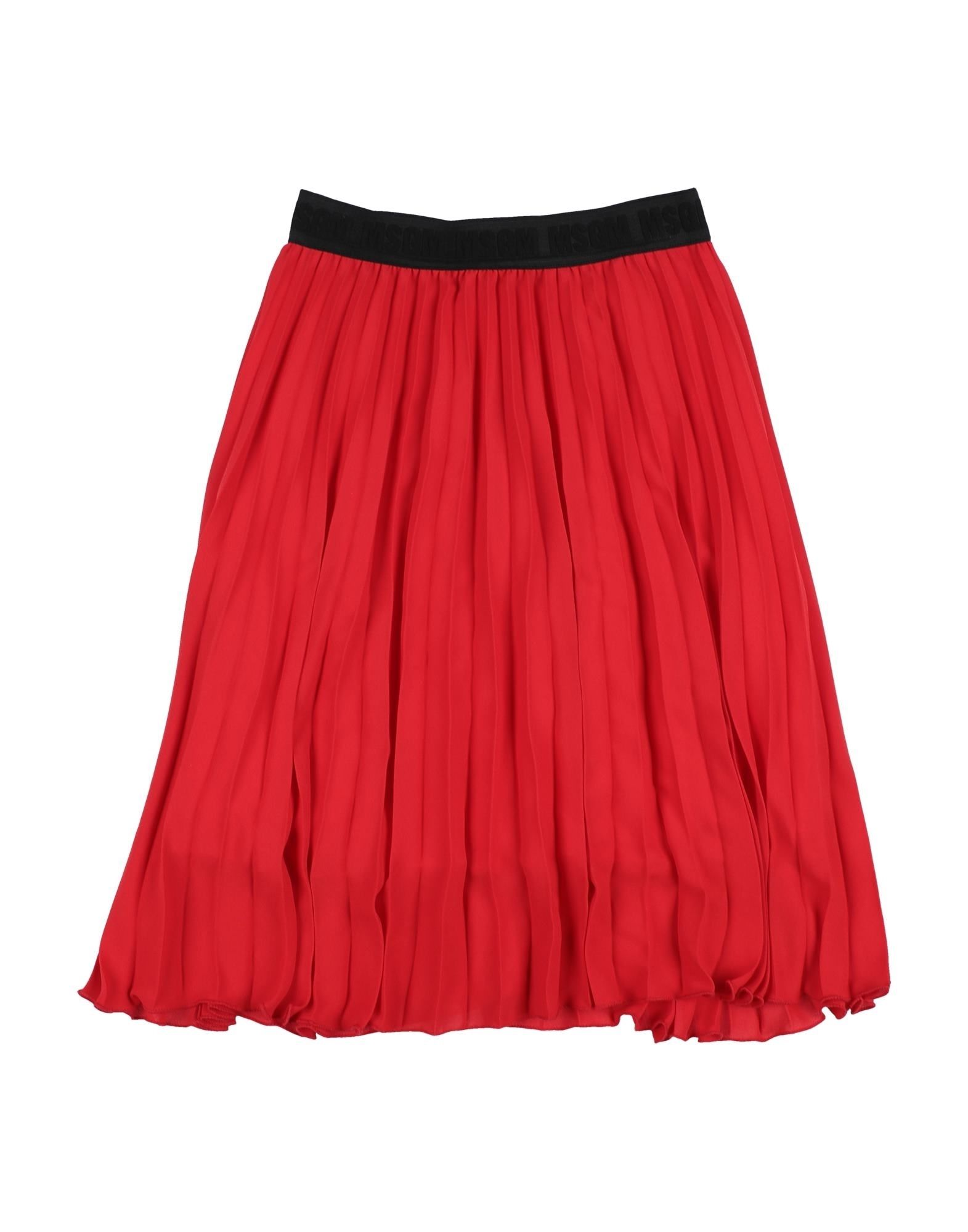 MSGM Skirts. plain weave, pleated, logo, basic solid color, mid rise, elasticized waist, no pockets, slip to line, do not wash, dry cleanable, do not iron, do not bleach, do not tumble dry. 100% Polyester