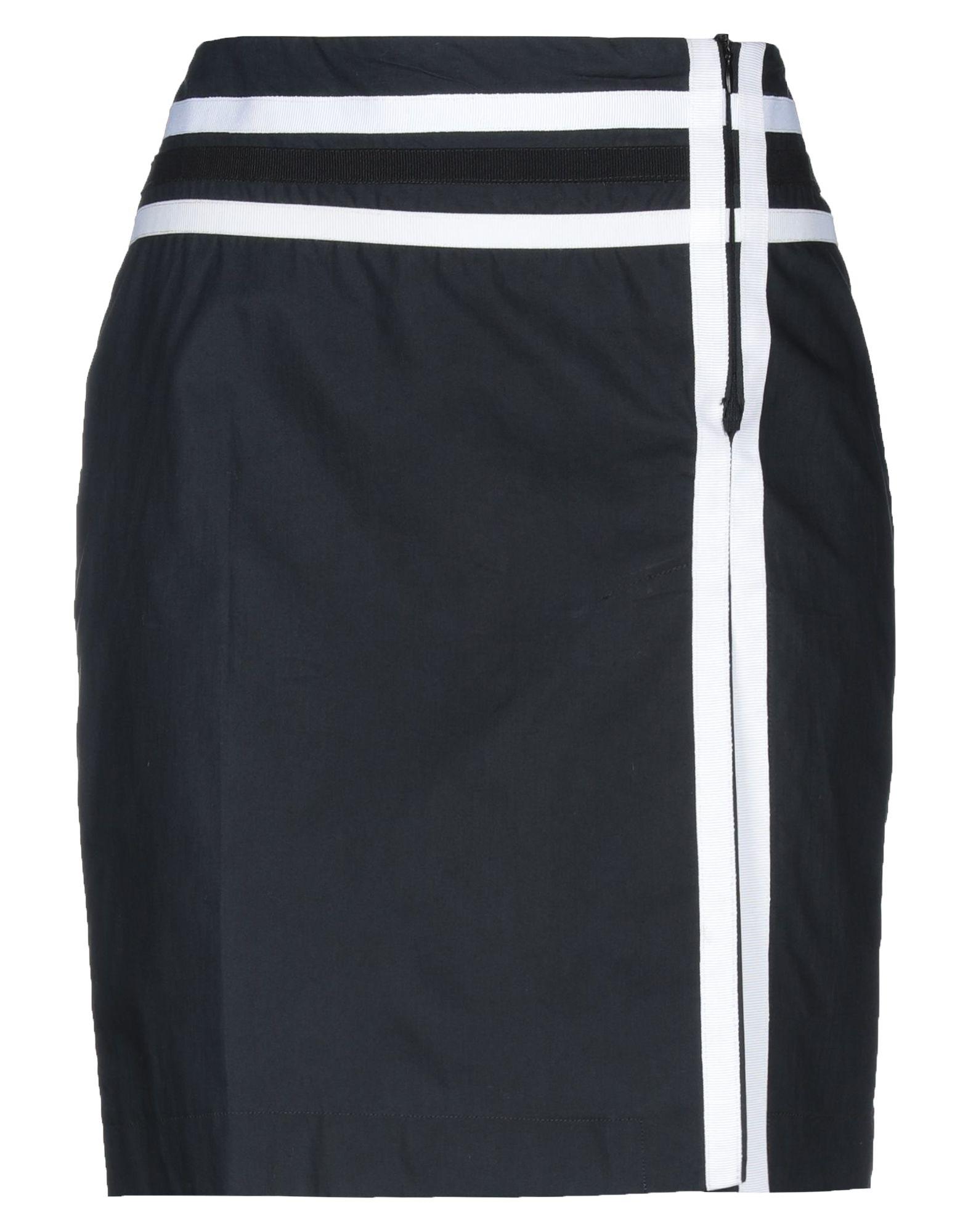 《セール開催中》PIANURASTUDIO レディース ミニスカート ブラック 40 コットン 100%
