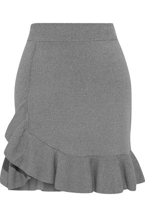 ALTUZARRA Ziggy ruffled stretch-knit mini skirt