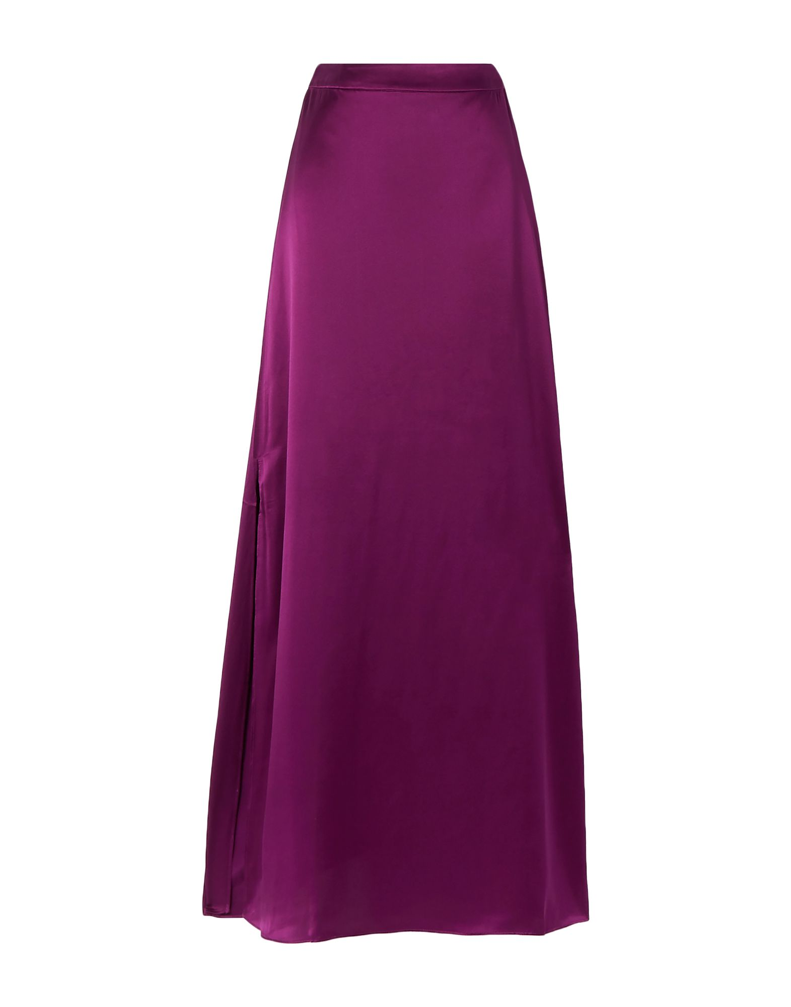 J.CREW Long skirts. satin, no appliqués, basic solid color, no pockets, rear closure, hook-and-bar, zip, unlined. 100% Silk