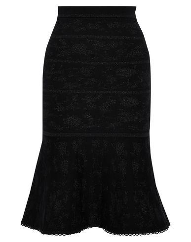 Фото - Юбку длиной 3/4 черного цвета