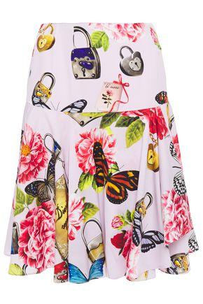 DOLCE & GABBANA Printed silk-blend skirt