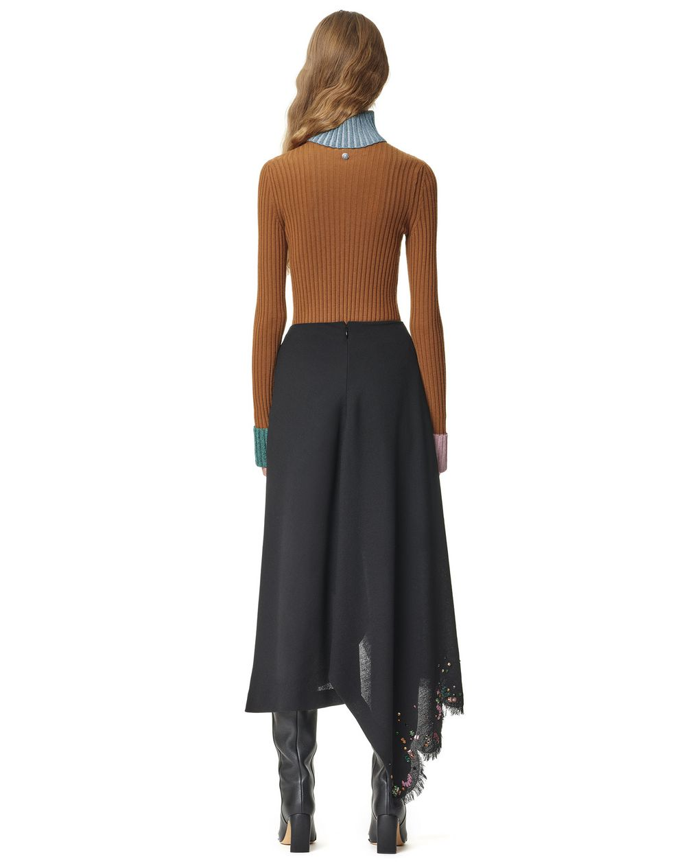 EMBROIDERED ASYMMETRIC WRAP SKIRT - Lanvin