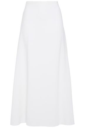 THE ROW Spreling flared stretch-crepe maxi skirt
