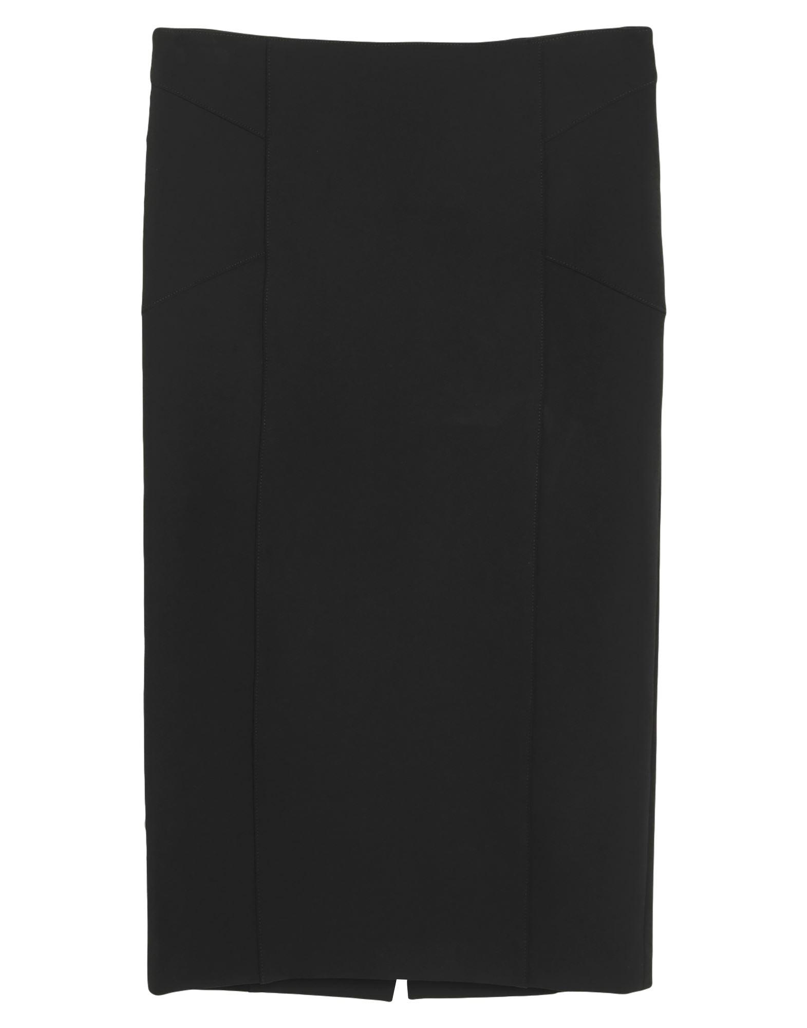 VERONICA BEARD 3/4 length skirts. jersey, no appliqués, basic solid color, no pockets, rear closure, zipper closure, unlined, stretch. 86% Nylon, 14% Elastane