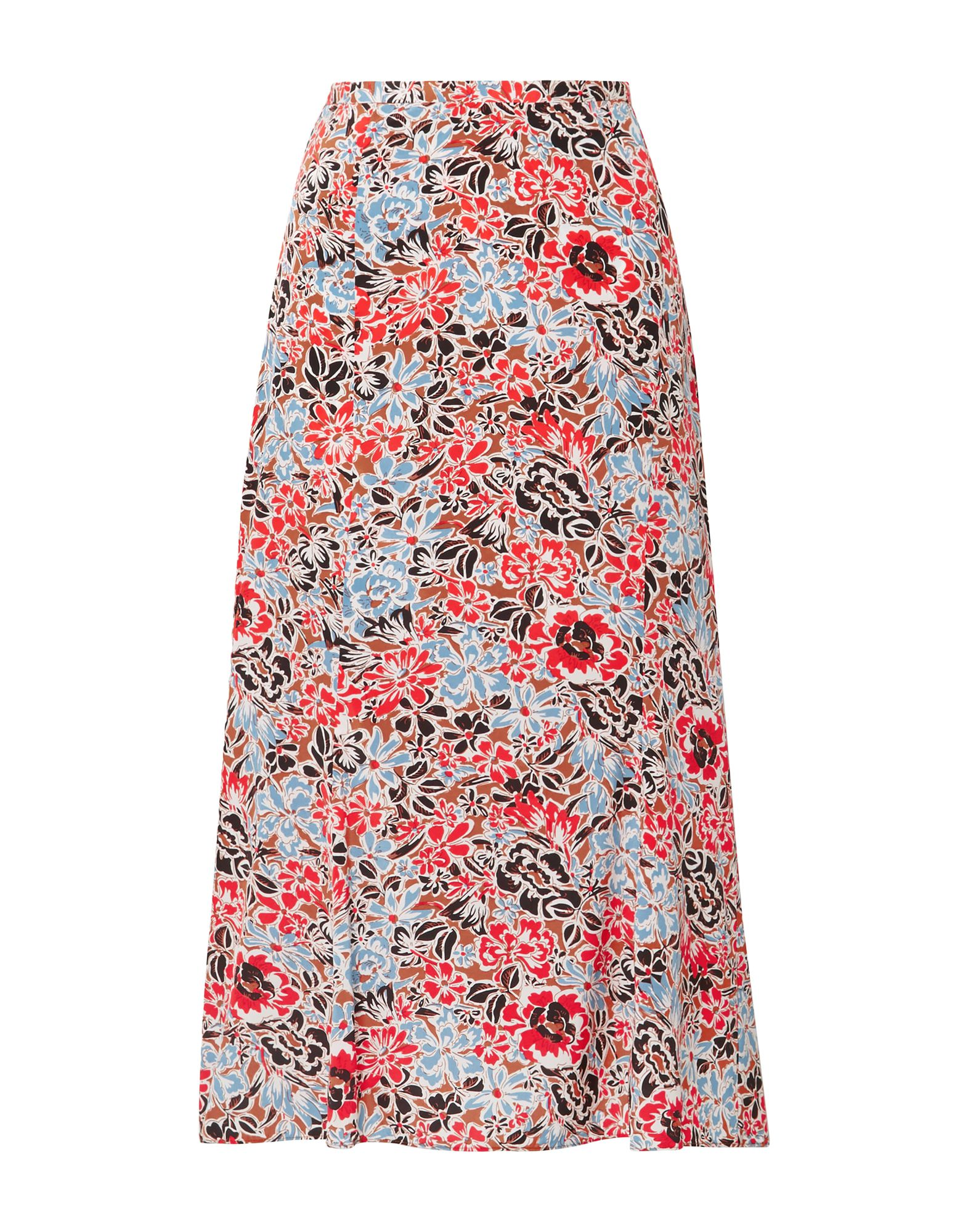 VERONICA BEARD 3/4 length skirts. crepe, no appliqués, floral design, no pockets, side closure, zipper closure, fully lined, stretch. 91% Silk, 9% Elastane