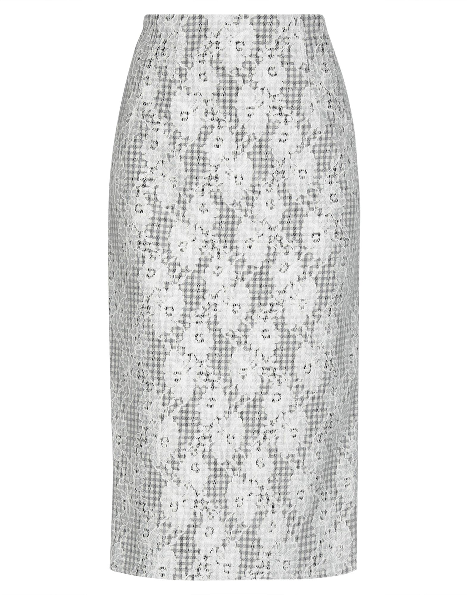 VERONICA BEARD 3/4 length skirts. lace, no appliqués, two-tone, no pockets, rear closure, hook-and-bar, zip, fully lined, rear slit. 65% Polyamide, 35% Rayon, Polyester, Elastane