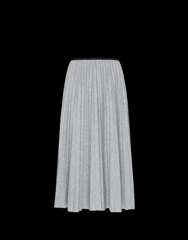 SKIRT Grey Category Long skirts Woman
