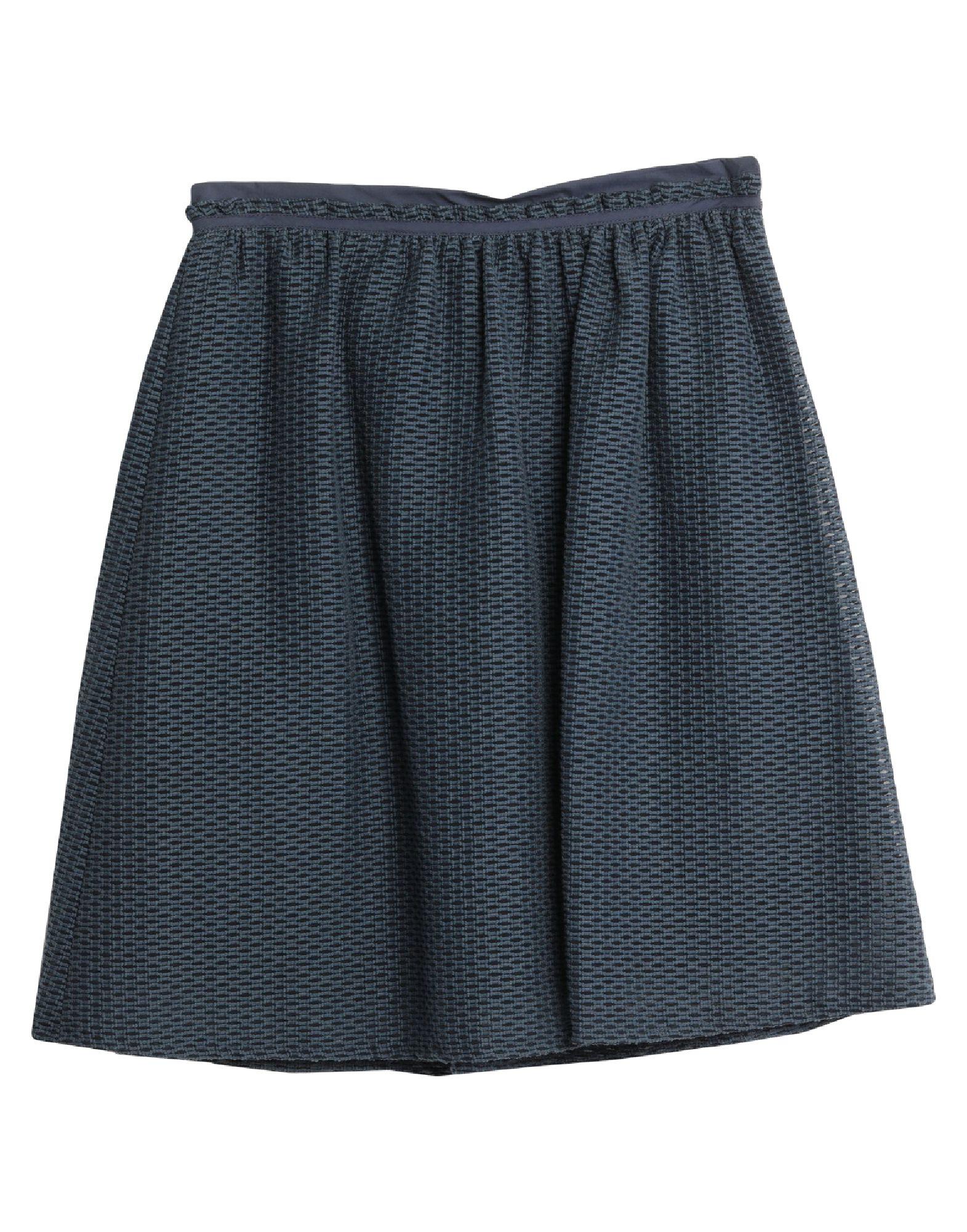 《セール開催中》I BLUES レディース ひざ丈スカート ダークブルー 44 コットン 85% / ナイロン 15% / ポリエステル