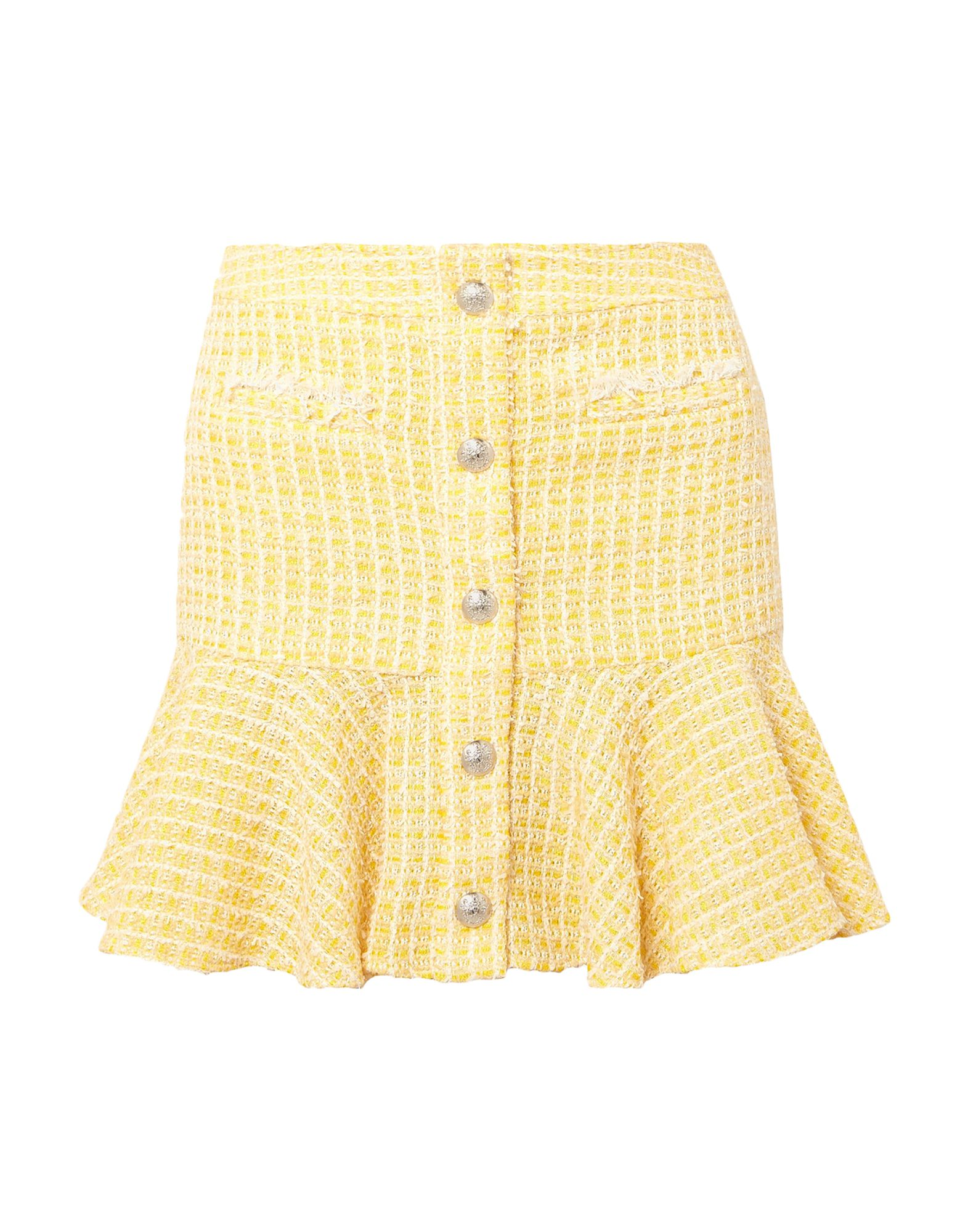 VERONICA BEARD Mini skirts. tweed, no appliqués, two-tone, mid rise, rear closure, hook-and-bar, zip, fully lined. 40% Cotton, 29% Polyester, 15% Viscose, 9% Nylon, 7% Acrylic