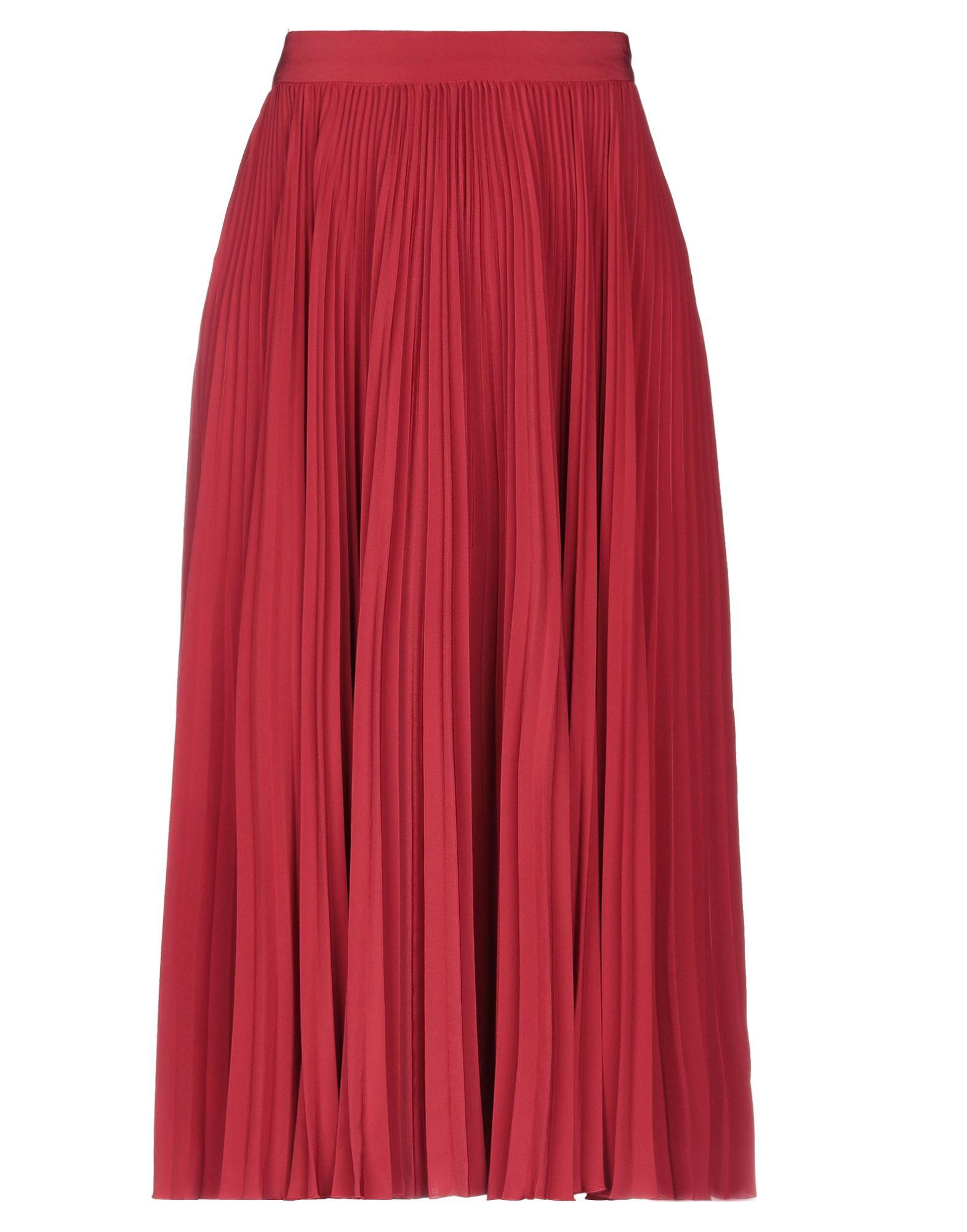 PHILOSOPHY di LORENZO SERAFINI 3/4 length skirts. plain weave, basic solid color, side closure, zipper closure, no pockets, no appliqués, unlined. 100% Polyester