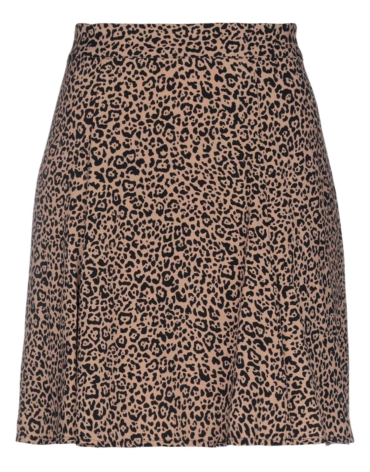 REFORMATION Knee length skirts. plain weave, no appliqués, leopard-print, no pockets, rear closure, zipper closure, fully lined. 53% Viscose, 47% Rayon