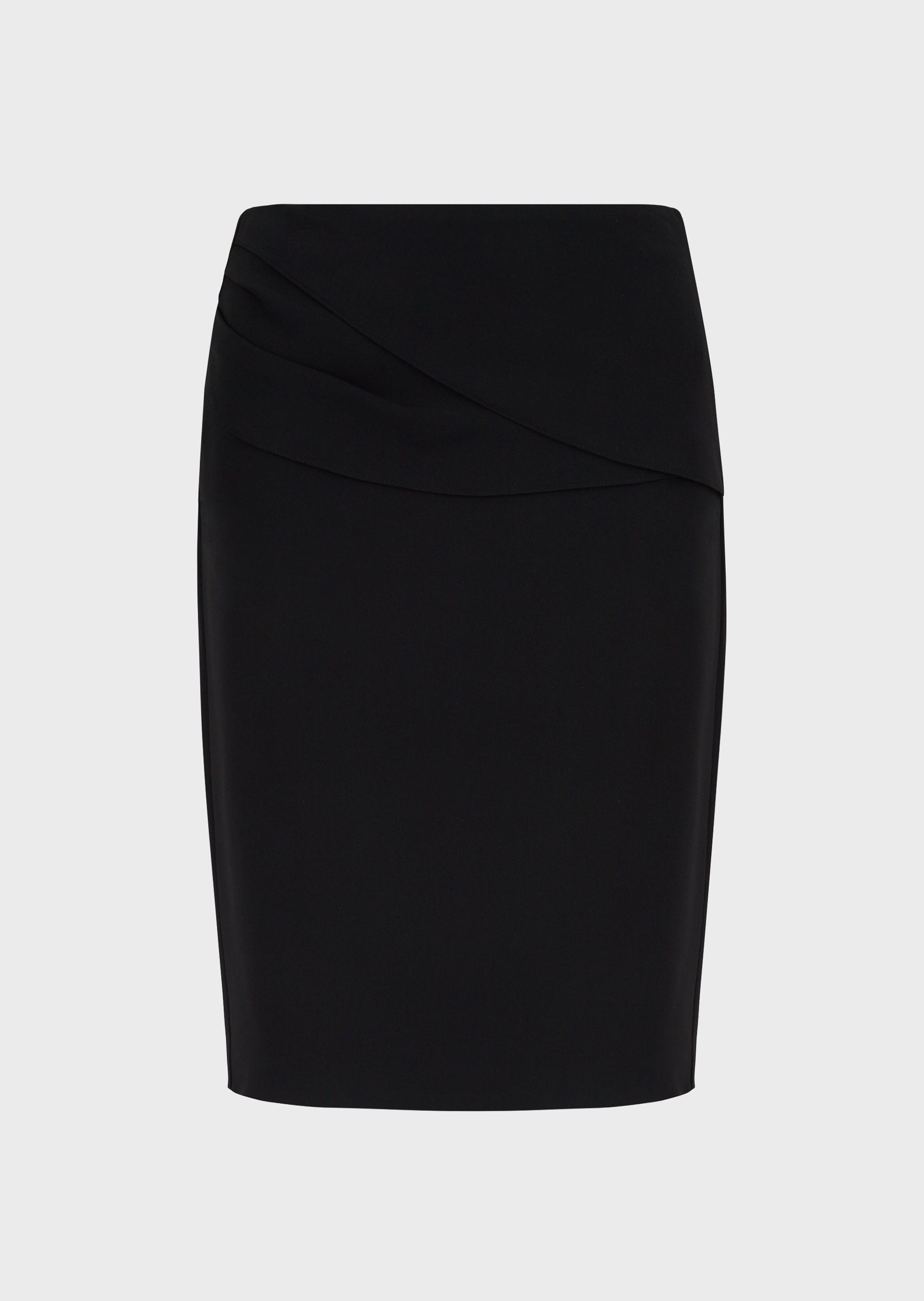 EMPORIO ARMANI Cady crpe skirt with draping-effect detail