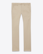 SAINT LAURENT Classic Pant U Classic Slim Chino in Sand Cotton Gabardine f