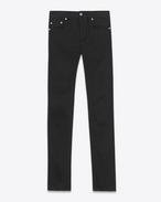SAINT LAURENT Skinny fit U ORIGINAL Mid WAISTED Skinny JEAN IN Vintage Black Raw Stretch Denim f