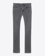 SAINT LAURENT Skinny fit U ORIGINAL Low WAISTED Skinny JEAN IN Washed Grey Stretch Denim f