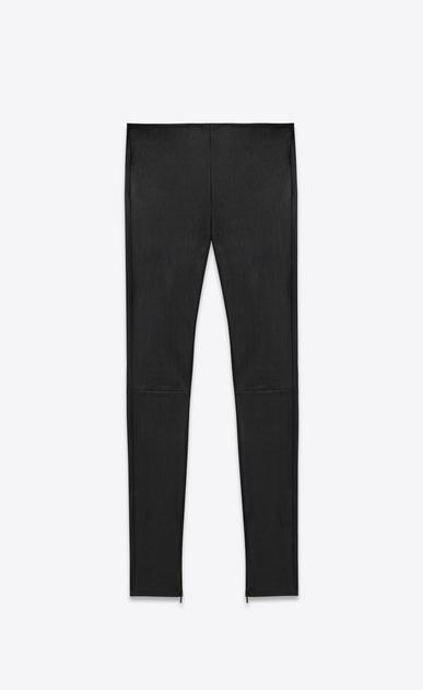 SAINT LAURENT Leather pants D Mid Waist Leggings in Black Leather v4