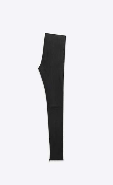 SAINT LAURENT Leather pants D Mid Waist Leggings in Black Leather b_V4