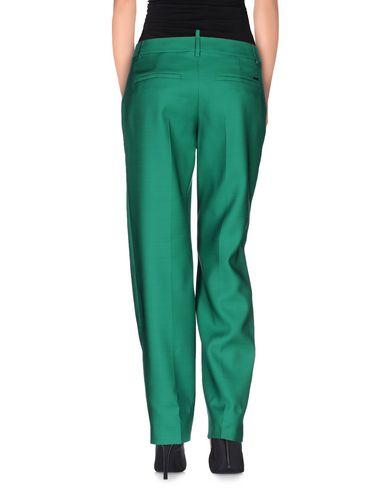 Фото 2 - Повседневные брюки зеленого цвета