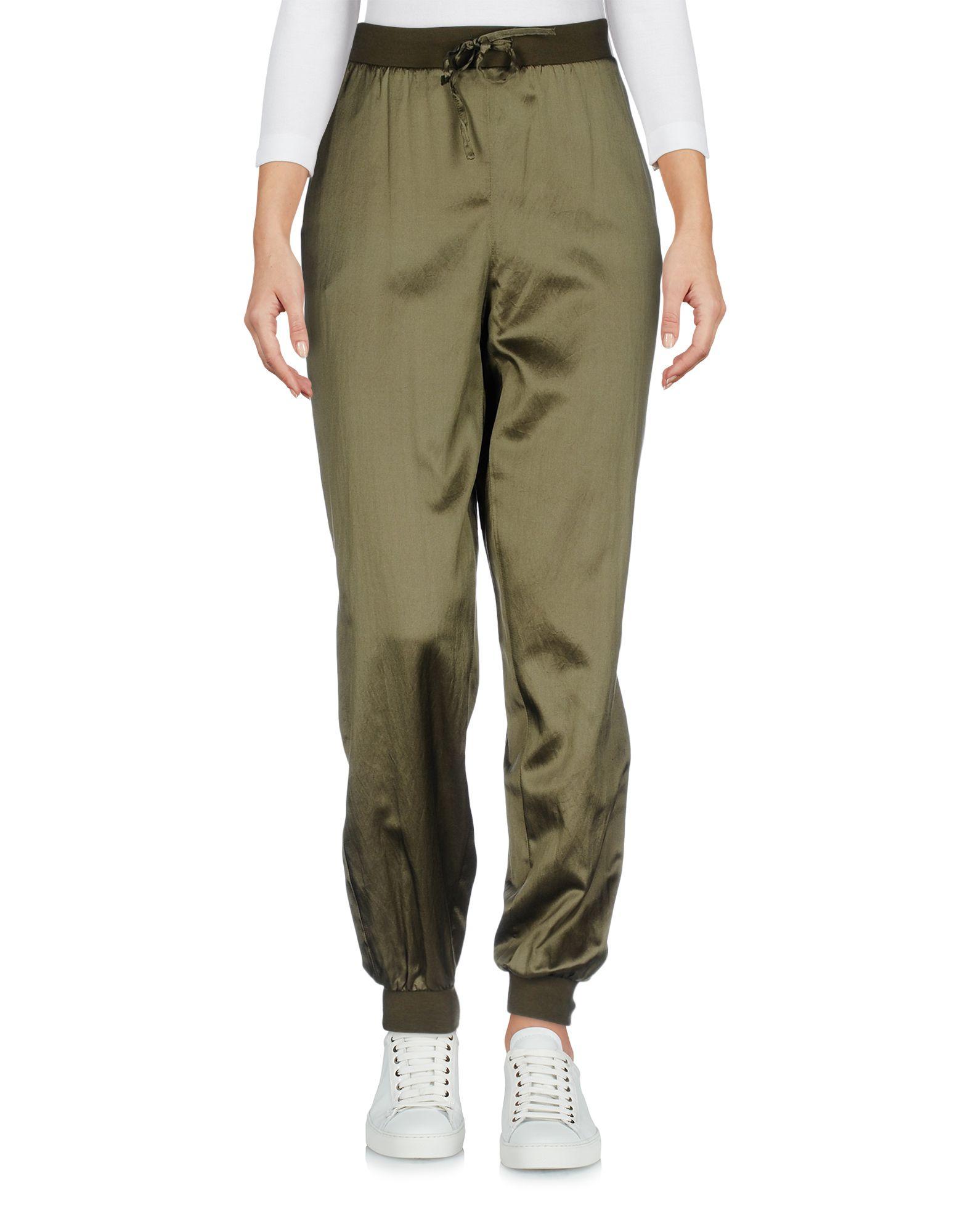 ERMANNO DI SCERVINO Damen Hose Farbe Militärgrün Größe 4