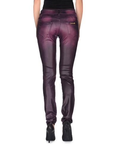 Фото 2 - Джинсовые брюки фиолетового цвета