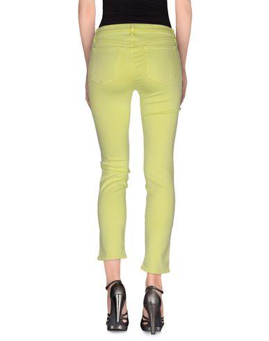 Фото 2 - Джинсовые брюки кислотно-зеленого цвета