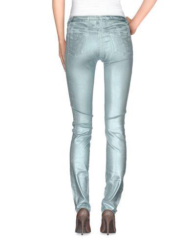 Фото 2 - Джинсовые брюки от 75 FAUBOURG бирюзового цвета