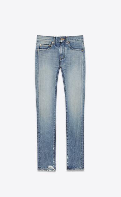 SAINT LAURENT Skinny fit D Original Mid Waisted Skinny Jean in Light Vintage Wash Stretch Denim v4